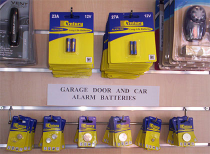 Century alarm remote batteries.
